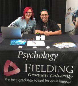 Staff member Starshine Roshell and student Aiden Hirshfield